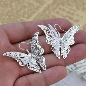 Jewelry - 🦋🦋SILVER BUTTERFLY 🦋 EARRINGS
